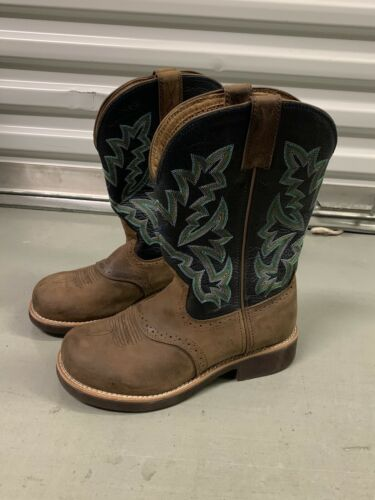 Twisted X Women's Cowboy Boots Size 8, Blue Green