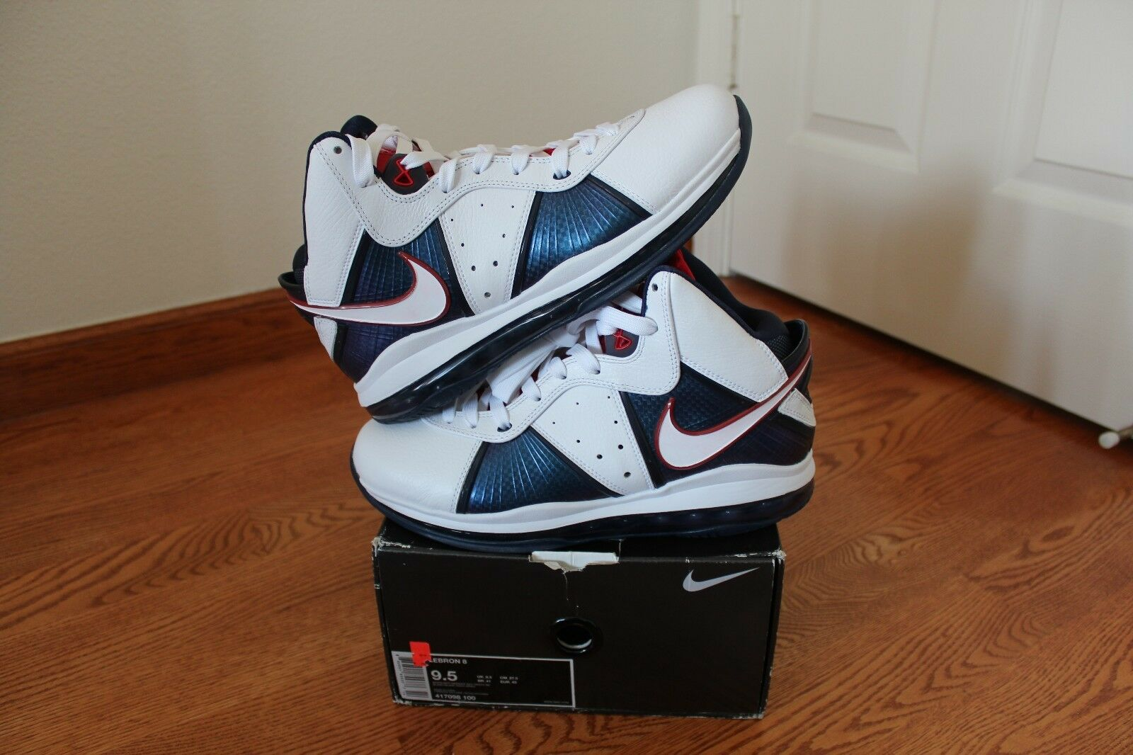 2010 FIBA Nike Air Max Lebron VIII 8 USA Olympic  Size 9.5