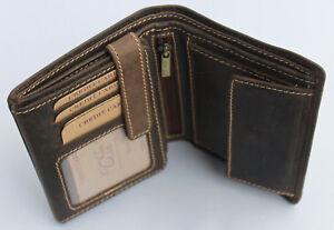 Geldboerse-Naturleder-Brieftasche-Geldbeutel-Portmonai