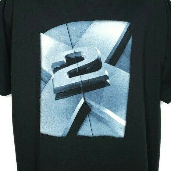 X Men 2 Movie Promo T Shirt 2003 Crew Promotional Marvel Comics Sci Fi Size XL