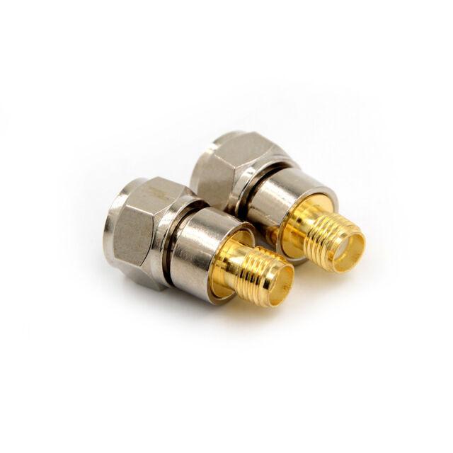Sma Female Jack To F Male Plug Rf Coaxial Adapter Connector Straight WA