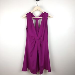 Yoana-Baraschi-Women-s-Pink-Purple-Silk-Dress-Size-6
