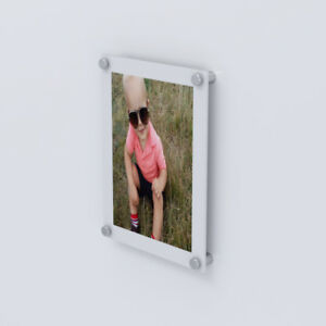 White Modern Acrylic Picture Photo Frames Wall Mounted All Sizes