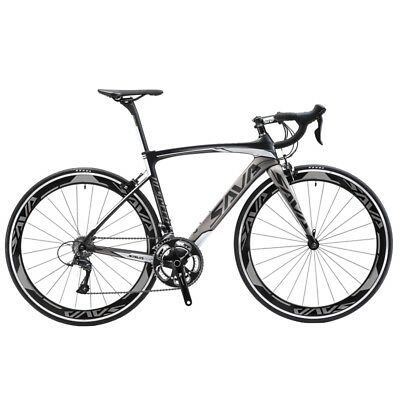 SAVA 700C ciclismo completa bicicleta de carretera de carbono Shimano SORA 18S