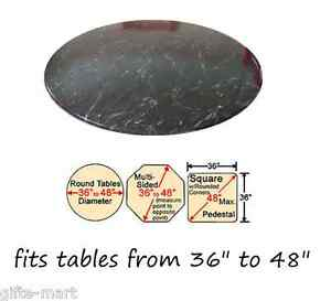Black Marble Elastic Fitted Vinyl Indoor Outdoor Round Patio Table