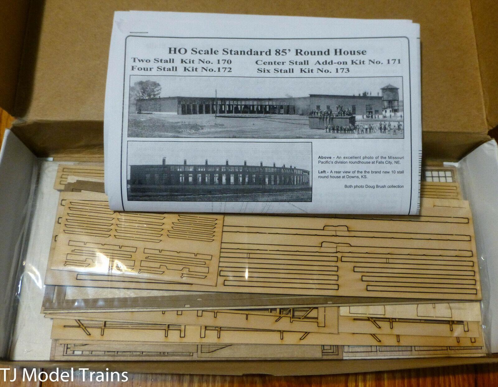 American Model Builders HO  170 85' Wood Roundhouse