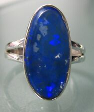 Sterling silver genuine Australian opal gemstone ring UK L/US 6. UK Seller