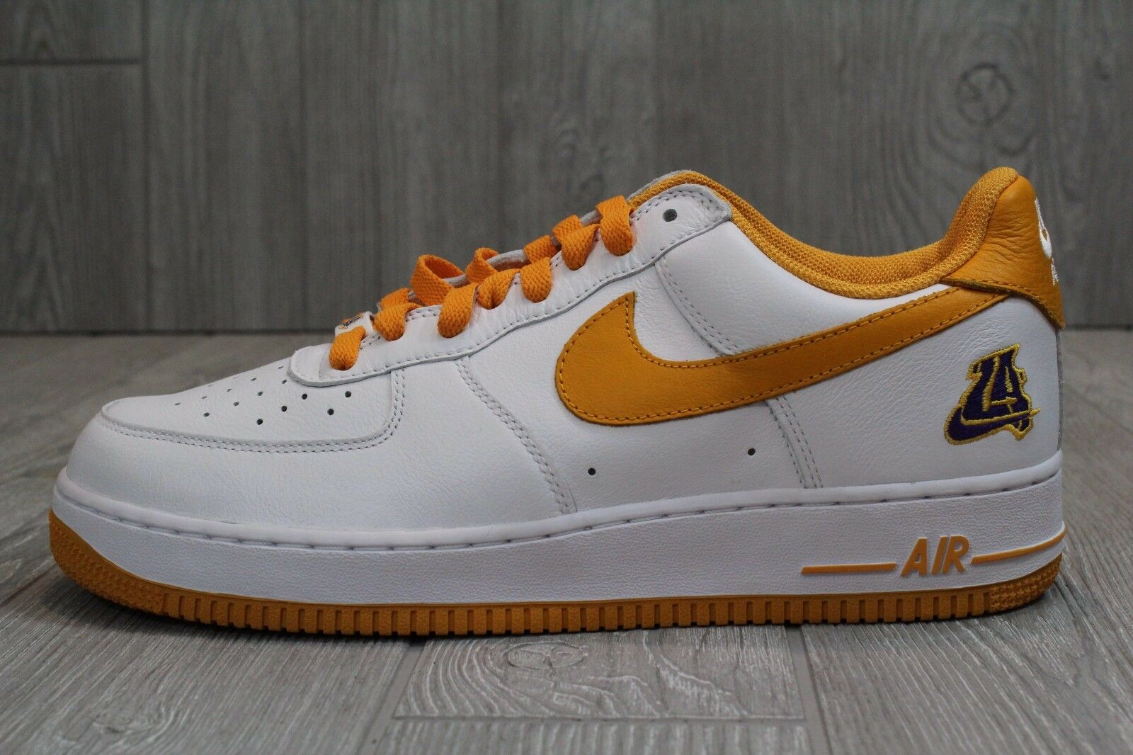 22 Mens Nike Air Retro Force 1 Undefeated X Retro Air LA Lakers Shoes 845053-103 10.5 12 322bff