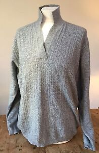 'loch M Lambswool Pullover Cabled Sweater Preloved Grey Caron' Jumper dx8qnd7U