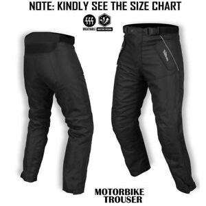 Motorbike-Waterproof-Cordura-Textile-Motorcycle-Trouser-Pants-Armours-Black-299