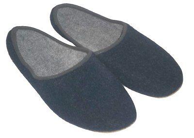 Hausschuhe Pantoffeln Filzpantoffel Poro Sohle Damen/Herren Neu Gr. 34-48