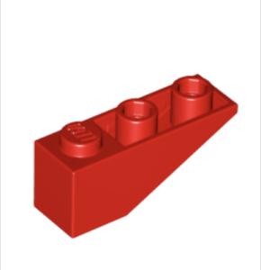 4287 Rojo. de ladrillo pendiente invertida Lego: 1 X 3