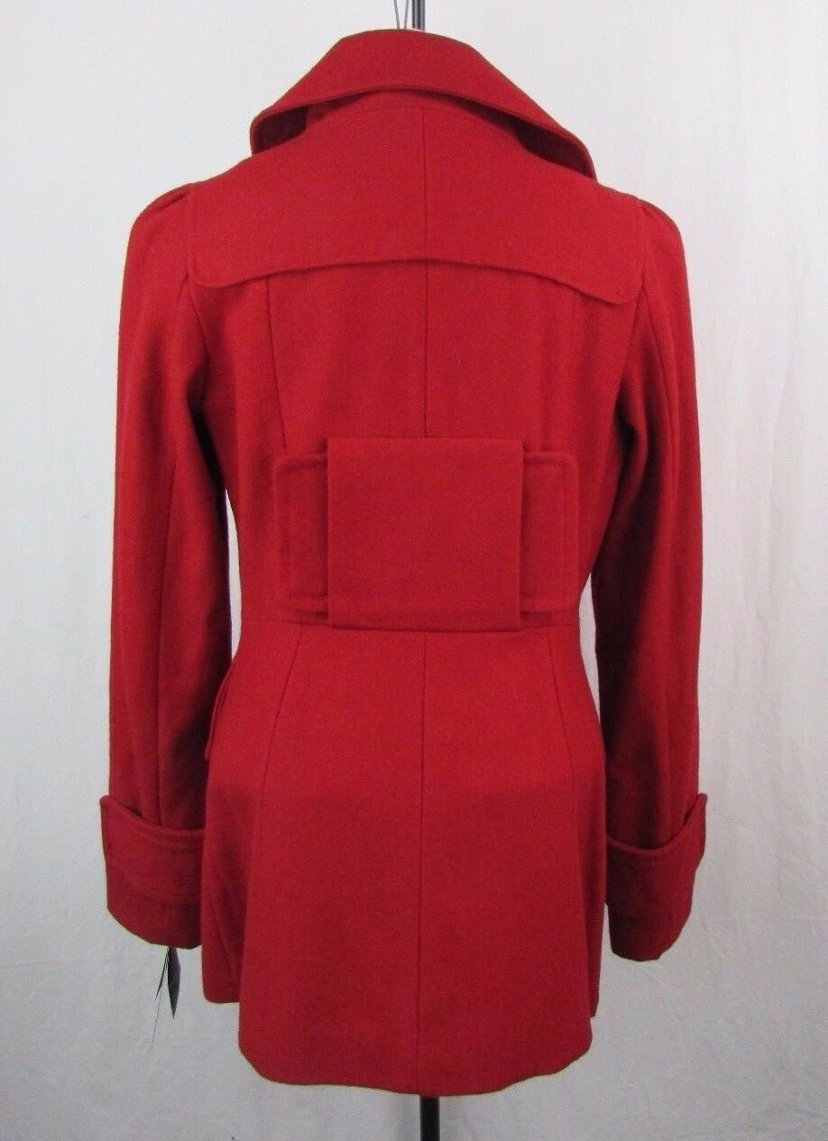1 Madison Women's Red Double Breasted Wool Blend Coat Size Size Size M f05ec8
