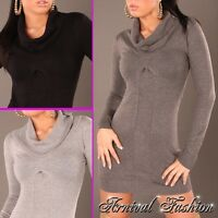 NEW WOMENS KNITWEAR ROLL NECK JUMPER 6 8 10 12 14 LADIES CASUAL SWEATER PULLOVER