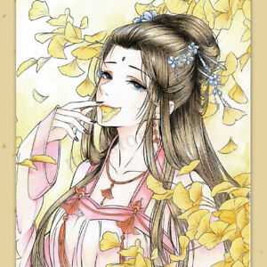Chinese-Ancient-Beauty-Coloring-Book-Painting-Drawing-Kids-Adults-Relief-Stress