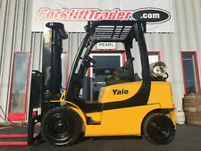 2013 Yale Glp050vxn 5000lb Pneumatic Tire Forklift With Side Shift