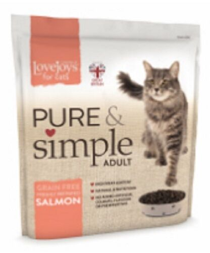 Lovejoys Pure /& Simple Adult Complete Dry Cat food Grain Free Salmon 1.5KG