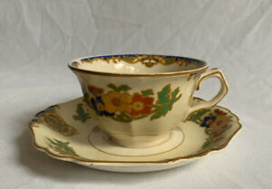 John-Maddock-amp-Sons-Minerva-Cairo-Cup-and-Saucer-Set-Art-Deco-1920s-737954