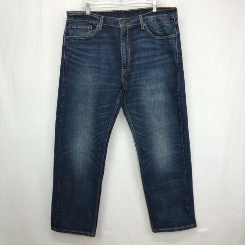 Levi/'s 505 Straight Leg Jeans Men/'s Size 36 X 30 Distressed Dark Wash