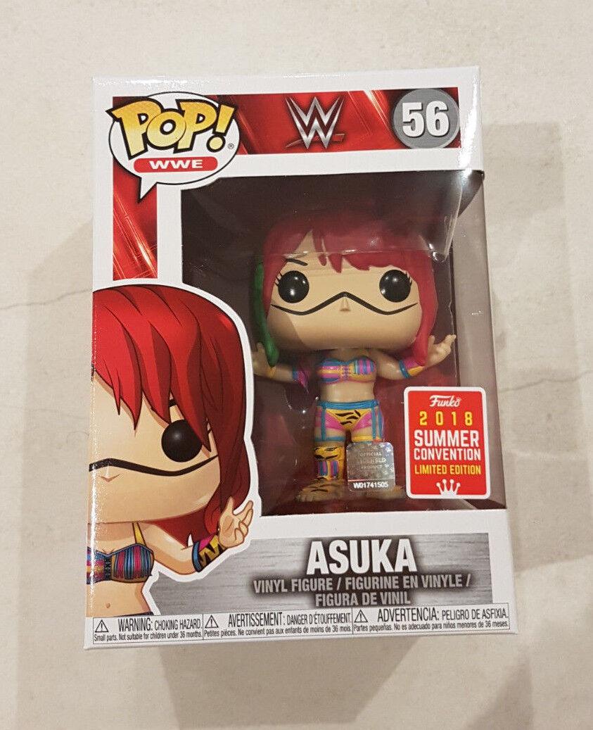 WWE ASUKA SDCC 2018 EXCLUSIVE FUNKO Pop Vinyl Figure NEW RARE (READY TO POST)