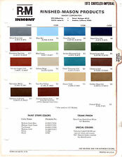 1973 CHRYSLER IMPERIAL NEW YORKER NEWPORT 73 PAINT CHIPS RINSHED MASON 6
