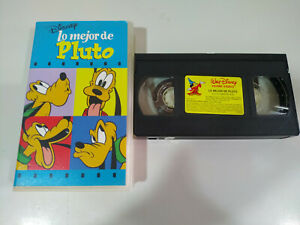 Lo-Mejor-de-Pluto-Walt-Disney-VHS-Cinta-Espanol-2T