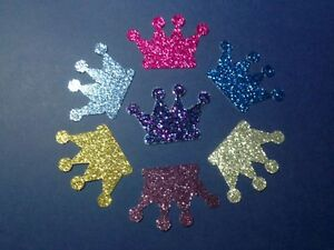 35-Glitter-Crowns-Die-Cuts-You-choose-color-Embellishments