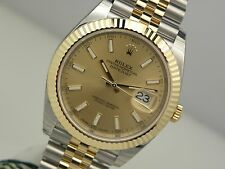 Mens Rolex DATEJUST 41 126333 Steel & Gold Jubilee Bracelet Champagne Index
