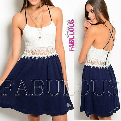 New Sexy Lace Crochet Summer Dress Size 6-8 Party Casual Evening Wear