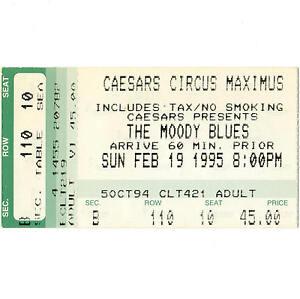 THE-MOODY-BLUES-Concert-Ticket-Stub-STATELINE-NV-2-19-95-CAESARS-CIRCUS-MAXIMUS
