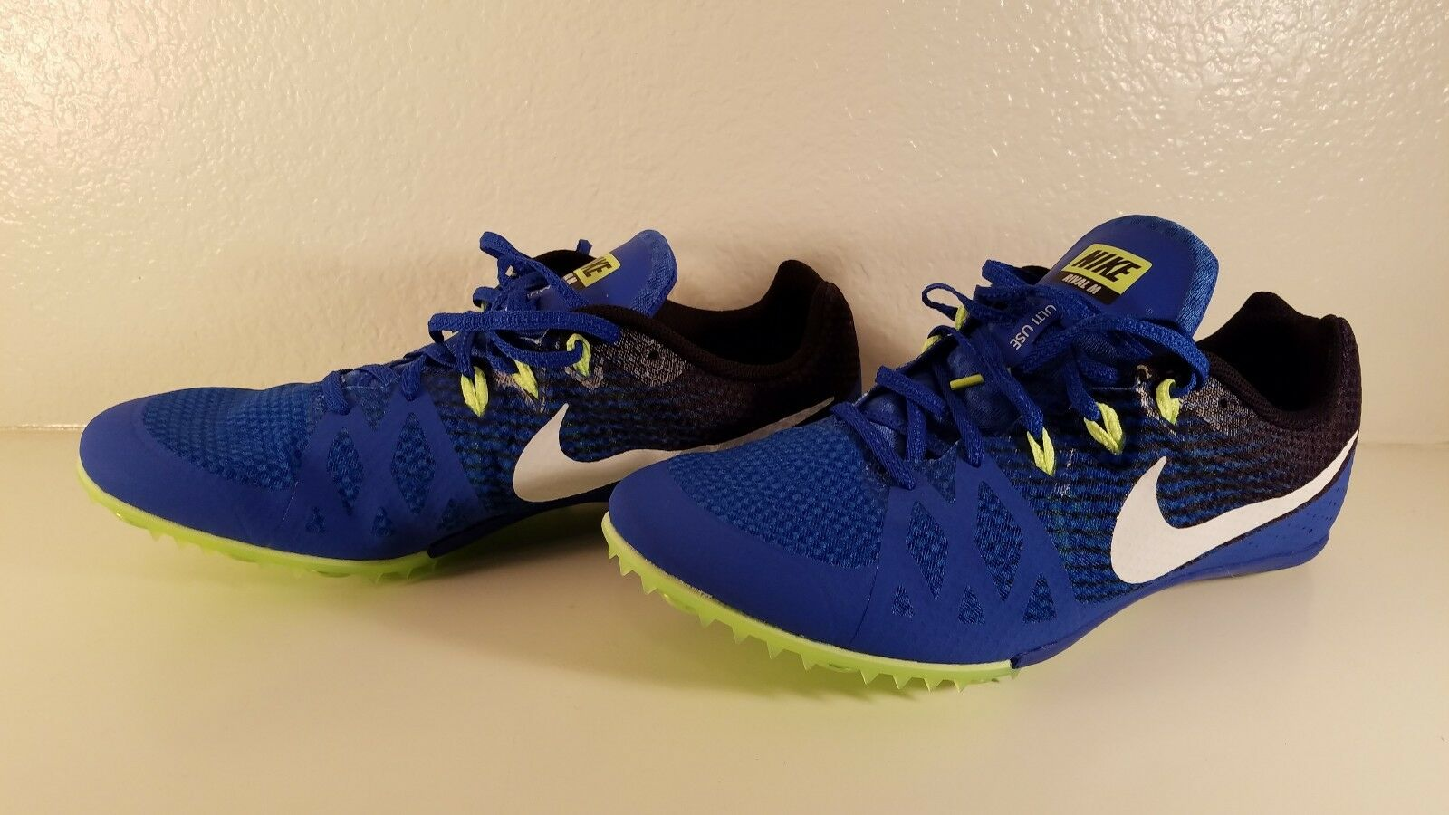 9aea413c5f9d1 Nike Nike Nike Men s Zoom Rival M 8 Track Spike Shoes Cleats Hyper Cobolt  Blue Size