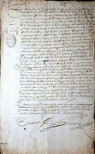 NOTARIAT-URKUNDE-DORDOGNE-SAMUEL-CYRANO-DE-BERGERAC-CHATELET-DE-PARIS-1617