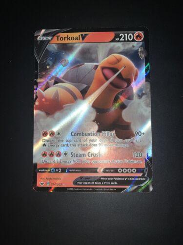 Pokemon Torkoal V 24//202 Sword And Shield MINT