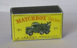 Repro Box Matchbox 1:75 Nr.64 Scammel Break Down Truck