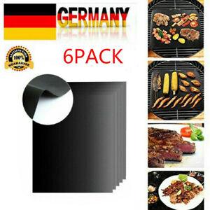 5X Kochen Dauer BBQ Grillmatte Glasfaser Grillunterlage Backofenfolie Grillfolie