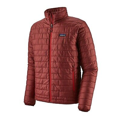 Measurements In Listing Patagonia Mens NANO PUFF Jacket OXIDE RED L RP $230