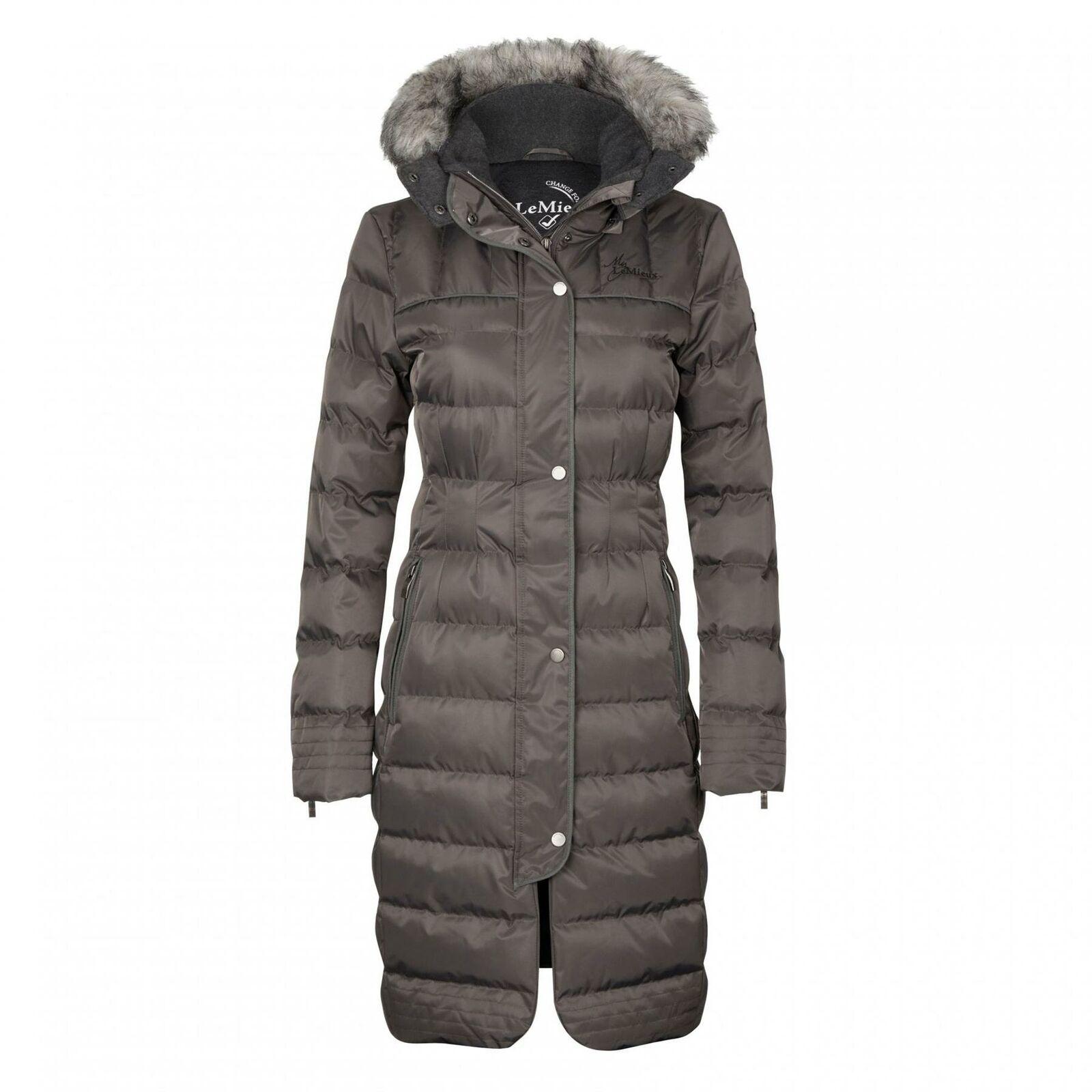 Il mio Lemieux Invernale Imbottito Cappotto lungo con cappuccio in pelliccia sintetica