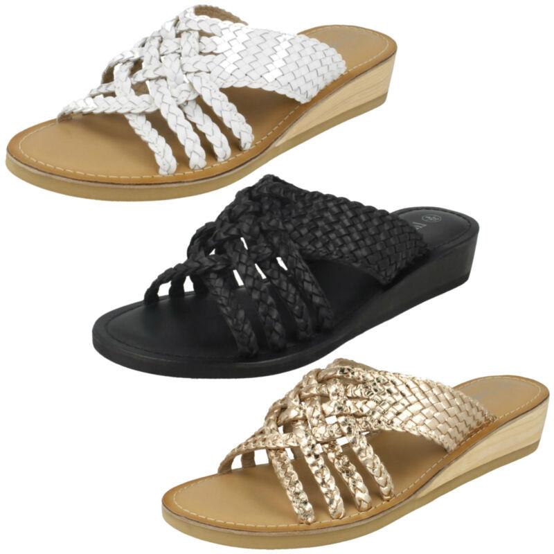 Donna F0r0076 Zeppa Sabot Sandalo Da Leather Collection Offerta