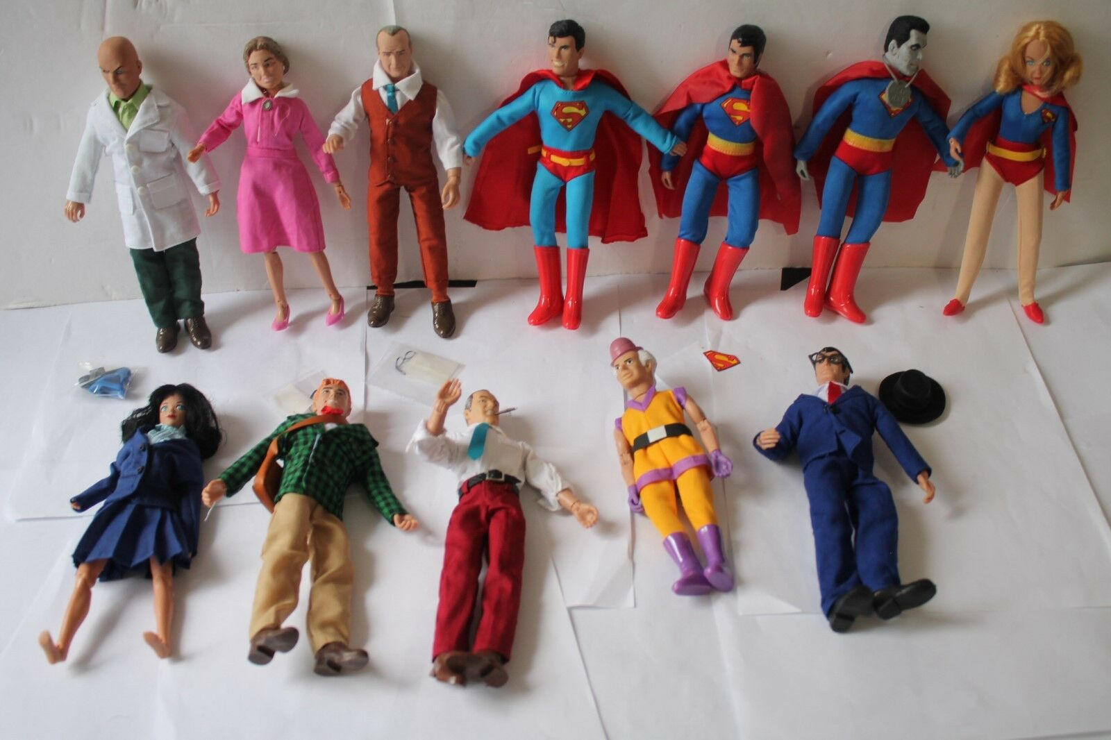 MEGO RETRO  SUPERMAN SERIES 1,2, & 3  ;12 , 8 INCH ACTION FIGURES POLYBAG