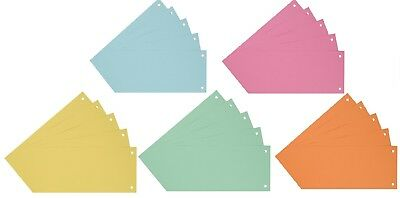 Karton 10,5 x 24 cm Aktenfahnen Register Farbtrennblätter Trennstreifen
