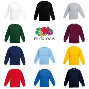 Fruit-of-the-Loom-Classique-80-20-Garcons-Filles-Set-en-Sweat