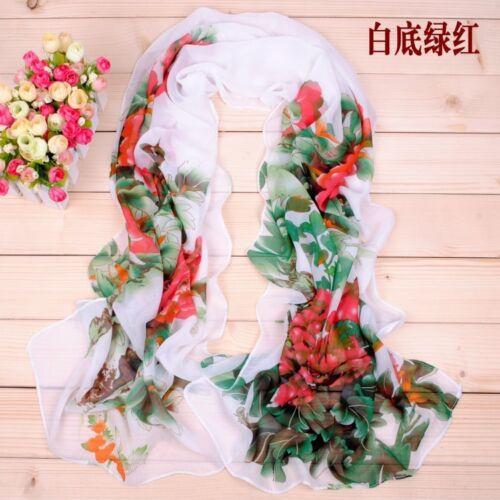 160 50cm Flowers Floral Fashion Ladies Scarves Chiffon Scarf Womens Shawls X035