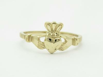 Audacious 14k Gelbgold Claddagh Design Ehering Size 8.5 Erheblich Jewelry & Watches