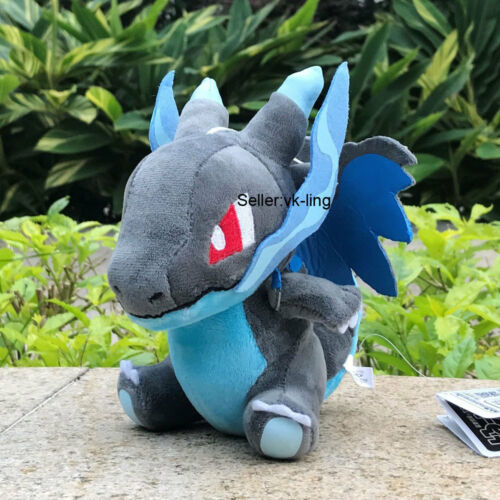 "Pokemon Center Go Plush Toy Mega Charizard X 6/"" Cute Stuffed Animal Poke Doll"