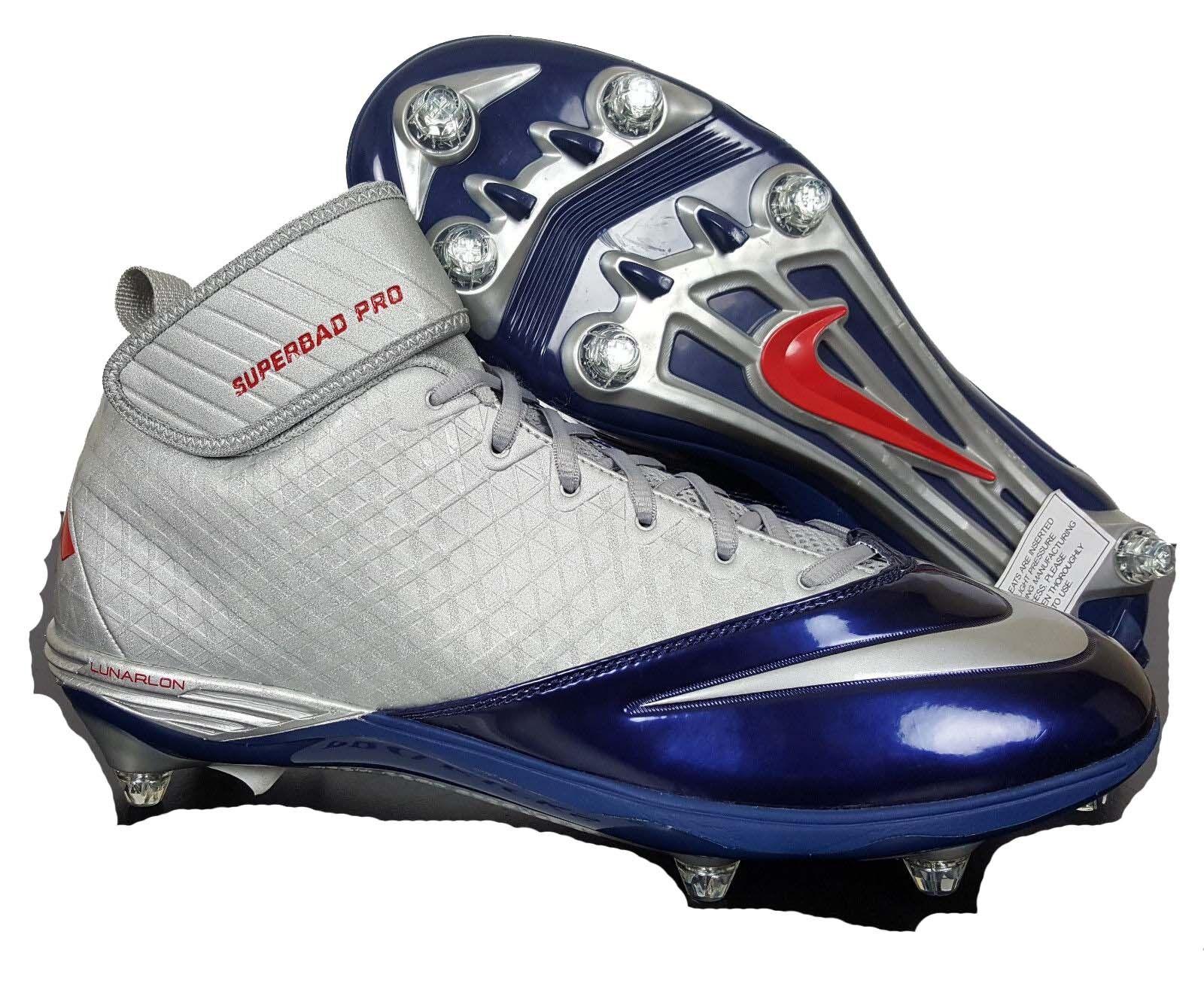 New Mens 14 NIKE Lunarlon Superbad Pro Patriots Cleats shoes  544762-019