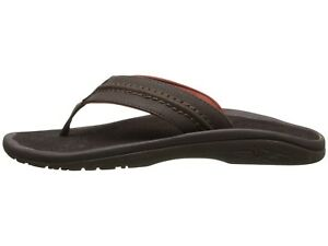 e7da56a5ed9f OluKai Hokua Dark Java Men s Casual Leather Sandals 10161-4848