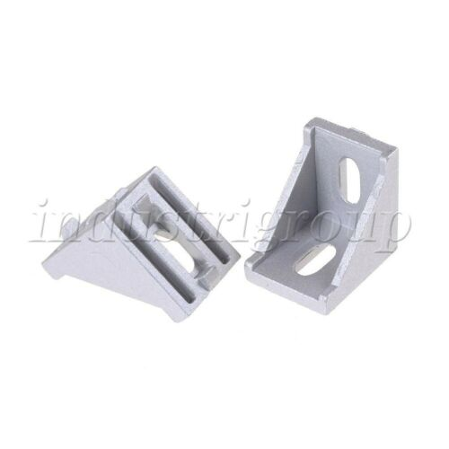 10Pcs T-slot L Shape Aluminum Brace Corner Joint Right Angle Shelf Bracket