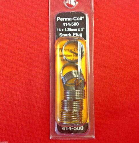 "Perma Coil 414-500 Metric Spark Plug Inserts 14 x 1.25mm x 1//2/"" Uses Heli  USA"