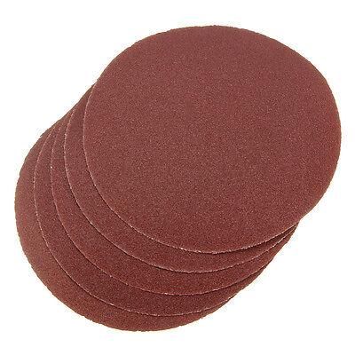 5pcs 80G 80Grit 80# Sandpaper Sanding Discs Sand Sheets 6'' 150mm