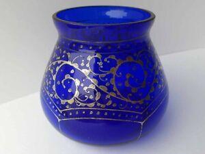 glas vase art deco silber malerei um 1920 ebay. Black Bedroom Furniture Sets. Home Design Ideas